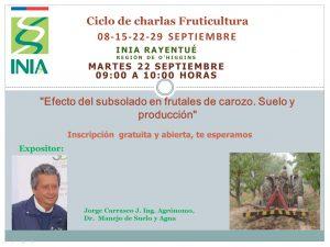 Ciclo de Charlas en fruticultura INIA Rayentué @ Vía Online
