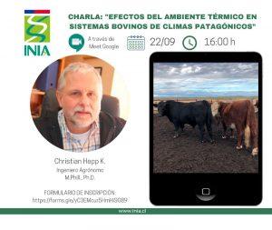 Charla virtual: Efectos del ambiente térmico en sistemas bovinos de climas patagónicos @ Google Meet