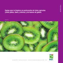 13. Equipo de lavado eficiente para el procesamiento de frutos